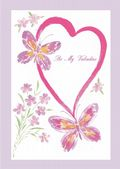 Valentine's Day Card-Butterflies And Heart Valentine